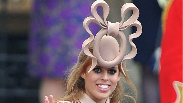 kate middleton fascinator hat. A lone hat seems to be the