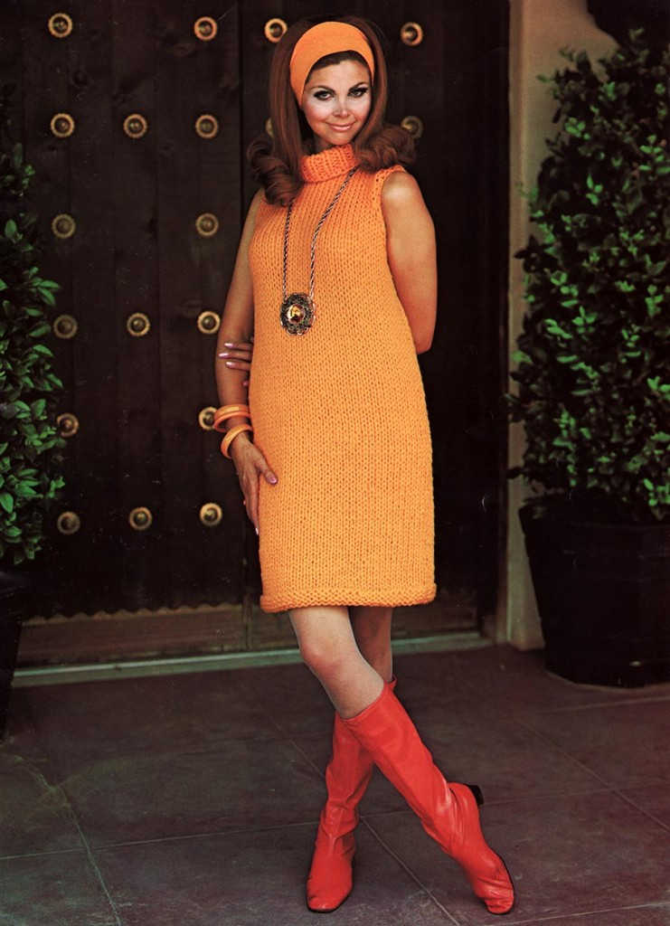 Mod 60s Mini Dress Knitting Pattern