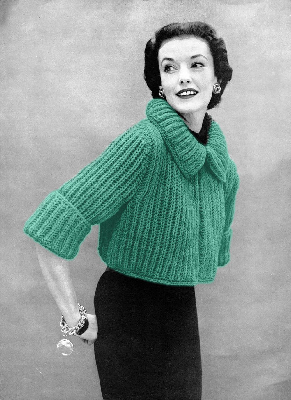 Musings from Marilyn   Fab 50s Vintage Bolero Sweater Knitting Pattern