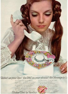 Slicker Dial by Yardley ad 1968 Patsy Sullivan