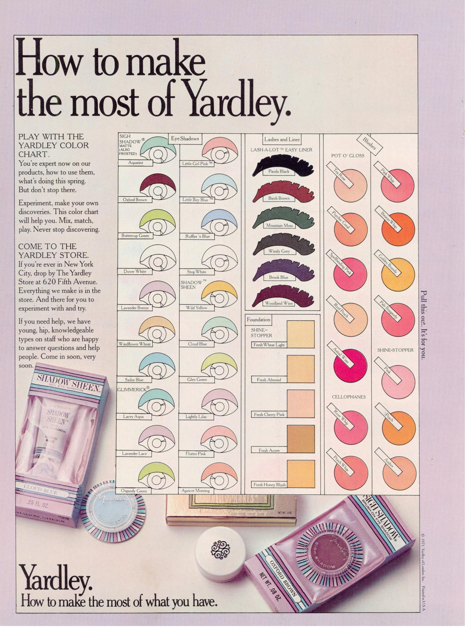 Musings From Marilyn 187 Yardley S Crash Course In Makeup 1972