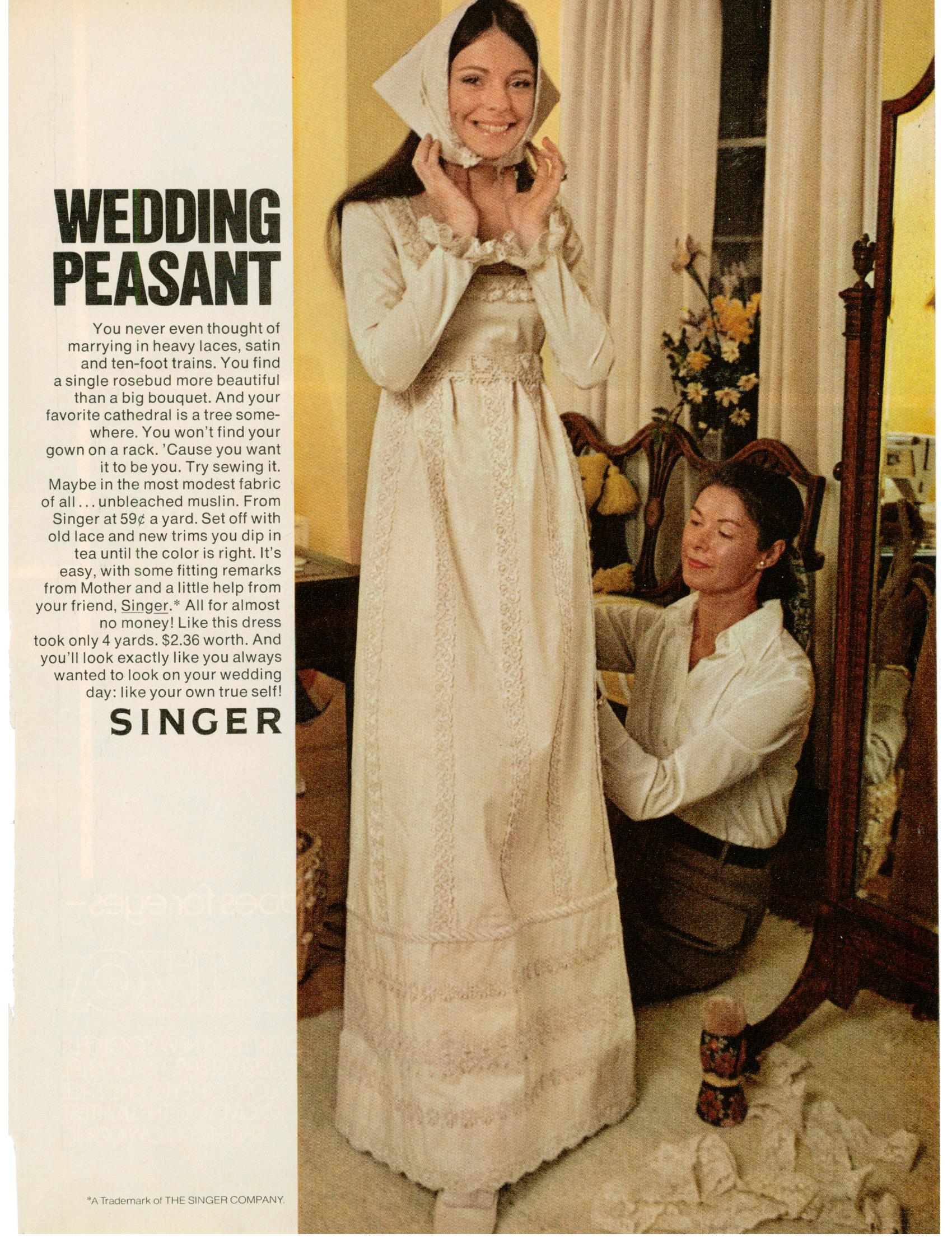 Singer Wedding Dress Singer Sewing Wedding Dress ad