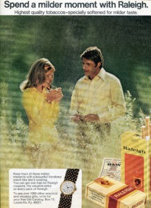 You've Come a Long Way, Baby: Cigarette Ads of 1972. Raleigh | FINNFEMME