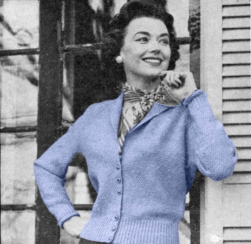 Musings From Marilyn Sweet Vintage 50s Cropped Cardigan Knitting