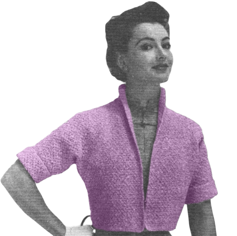 Musings from Marilyn » Vintage 1955 Knitting Pattern for Bolero ...