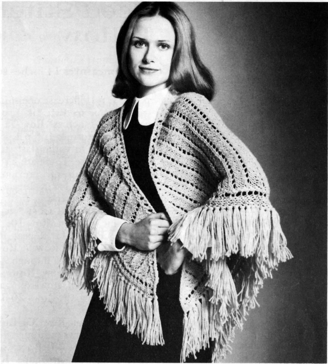 Musings from Marilyn » Vintage 60s \'Kate\' Shawl Knitting Pattern
