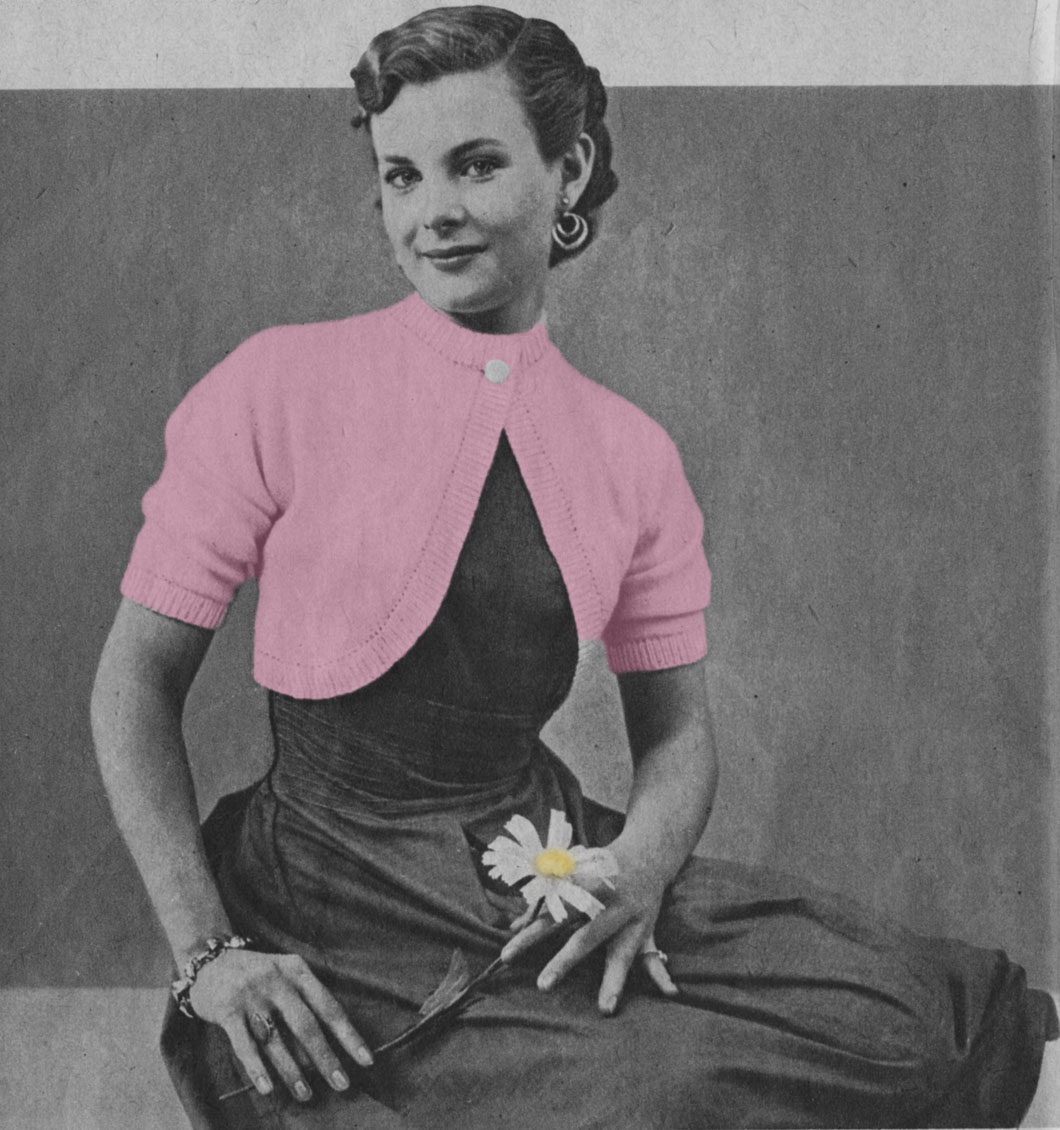Musings from Marilyn » Sweet Vintage 40s Bolero Knitting Pattern
