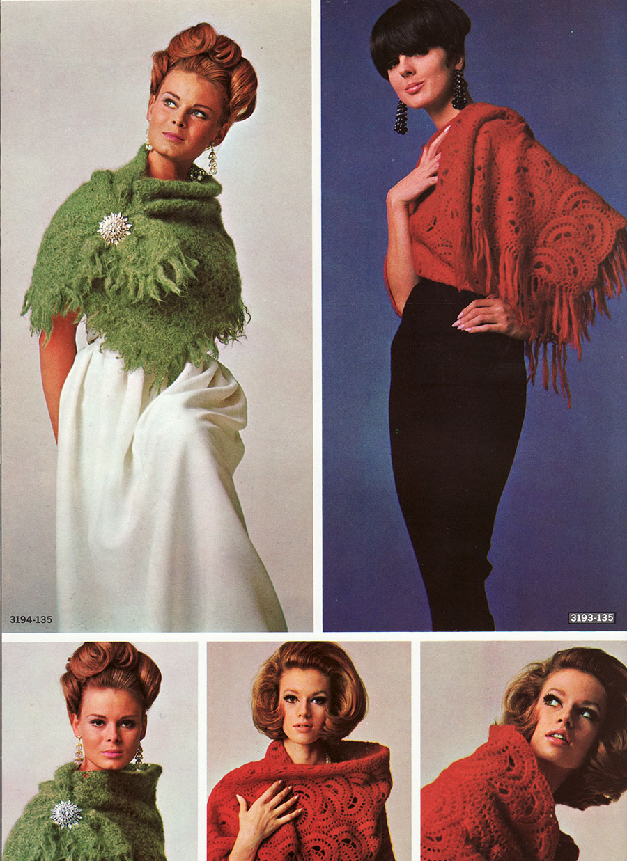 Musings from Marilyn » Three Vintage Mod 60s Fluffy Mohair Shawl ...