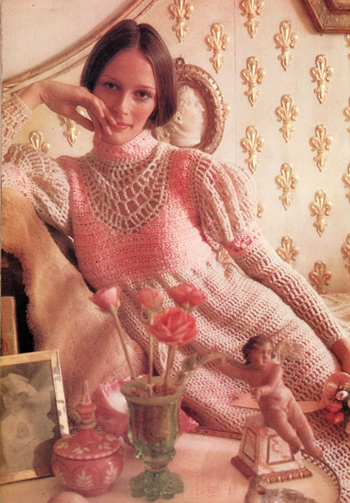 Vintage Midi Dress Crochet Pattern