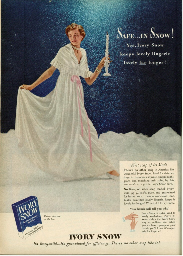 Vintage 1949 Ivory Snow Soap Ad