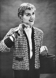 Vintage 50s Chanel Sweater Jacket Knitting Pattern