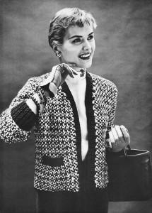 Vintage 50s Chanel Sweater Jacket Knitting Pattern