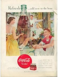 Coca-Cola Ad Vintage 1950