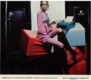 Olivetti Studio 45 ad 1969 Twiggy