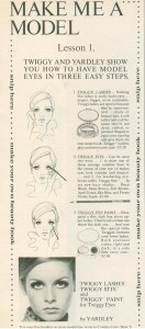 Twiggy Eye Makeup-Yardley 1968