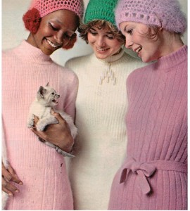Fluffy Angora Sweater Dress 1970