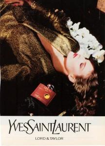 YSL-Opium Perfume Ad 1987