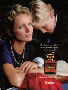 Ralph LAUREN perfume ad 1987