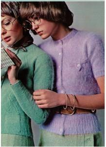 Vintage 1970 Angora Sweaters
