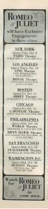 Romeo & Juliet film theaters 1968