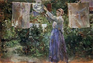 Drying Laundry on the Clothesline