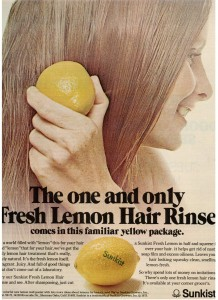 Sunkist Lemon - Hair Rinse 1973
