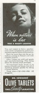 Vintage Dr Edwards Olive Laxative ad 1936
