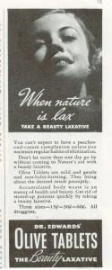 Vintage Dr Edwards Olive Laxative ad 1936