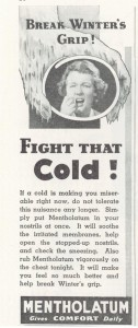 Vintage Mentholatum ad 1936