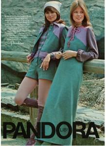 Vintage 1971 Pandora Hot Pants Maxi Dress