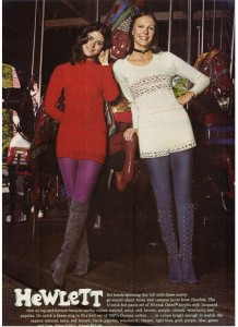 Vintage 1971 Hewlett sweater hot pants set