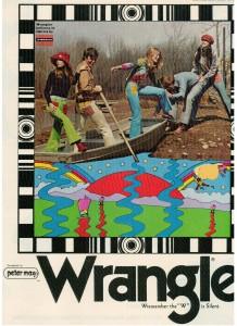Vintage 1971 Peter Max Wrangler Jeans