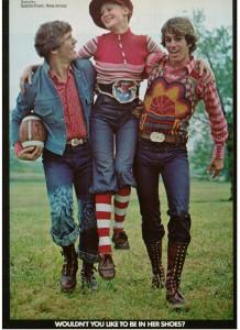 Vintage 1971 Bass Tacks shoes, funky fashions