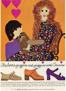 Connie Shoe ad vintage 1971