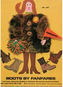 Fanfare Boots ad vintage 1971