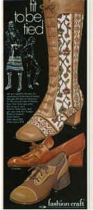 Fashion Craft shoe boot ad vintage 1971
