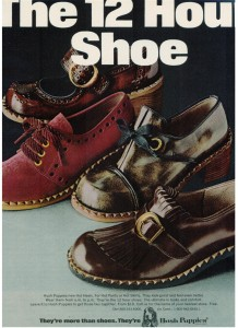 Hush Puppies Hot Heels shoe ad vintage 1971