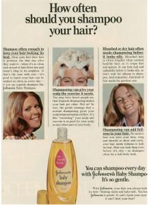 Vintage 1973 Johnson's Baby Shampoo ad