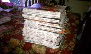 My vintage 60s/70s Seventeen magazine stash