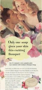 Finnfemme - 1945 Cashmere Bouquet Soap ad