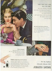 Finnfemme - 1945 Jergens Lotion ad