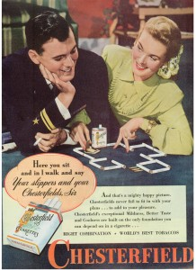 Finnfemme - 1945 Chesterfield cigarettes ad