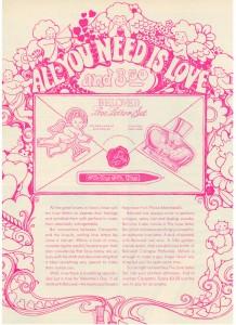 Vintage 1969 Prince Matchabelli love letter set