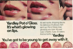 Pot o' Gloss Yardley of London 1971