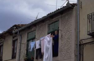 City clothesline
