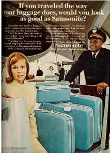 Samsonite luggage 1969