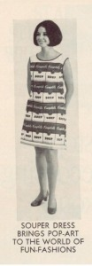 Campbell's Soup Souper Dress ad 1969
