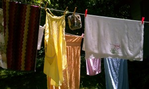 Summertime Laundry Clothesline