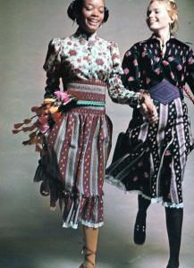 Vintage 1970 India print folk look