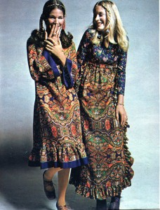 Vintage 1970 Boho Paisley look